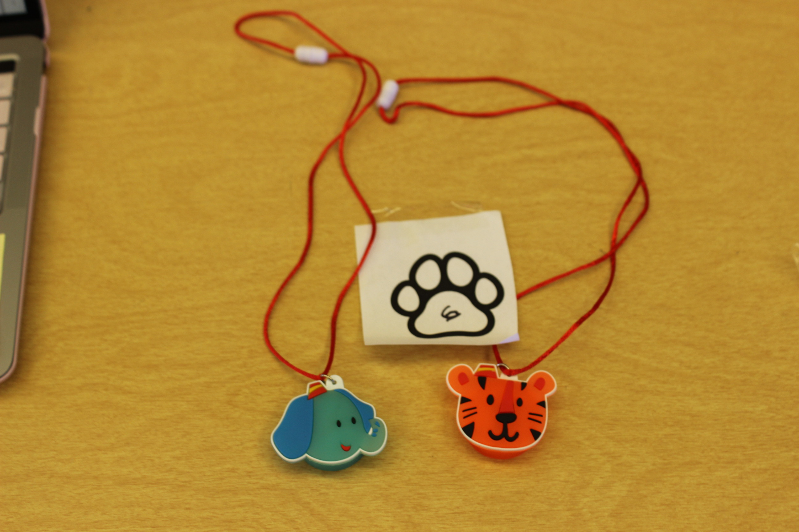 6 Paws Circus Necklace