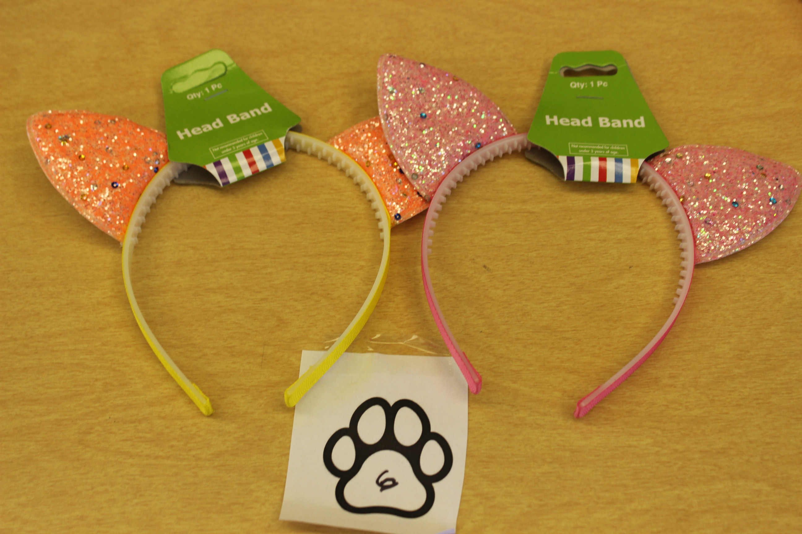 6 Paws Glitter Cat Ear Headband