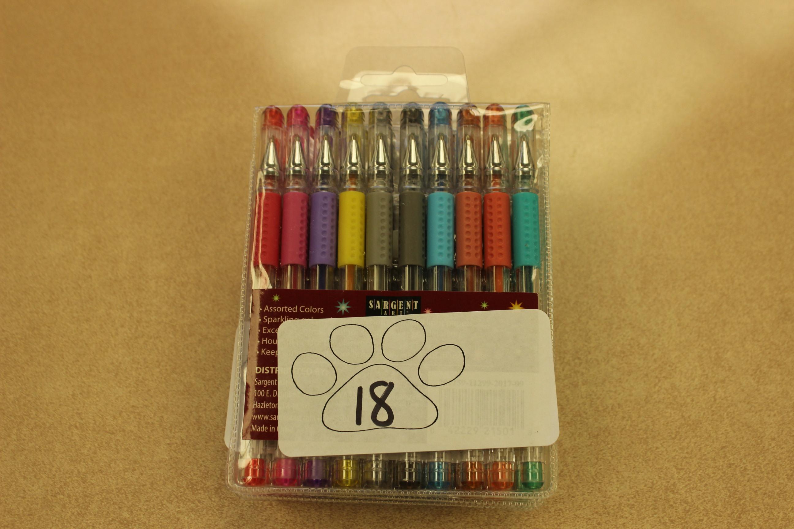18 Paws 10 Gel Pens