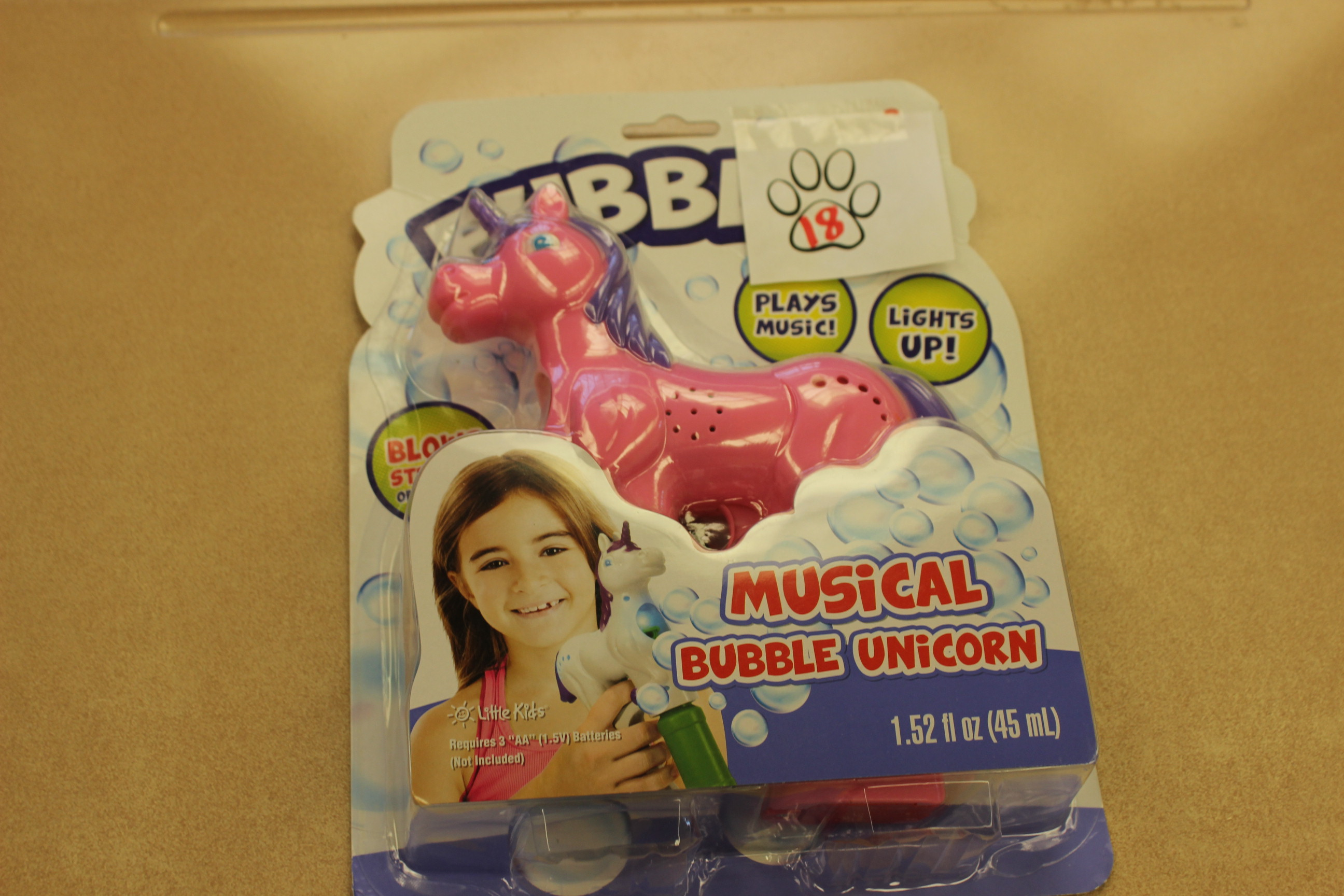 18 Paws Musical Bubble Unicorn