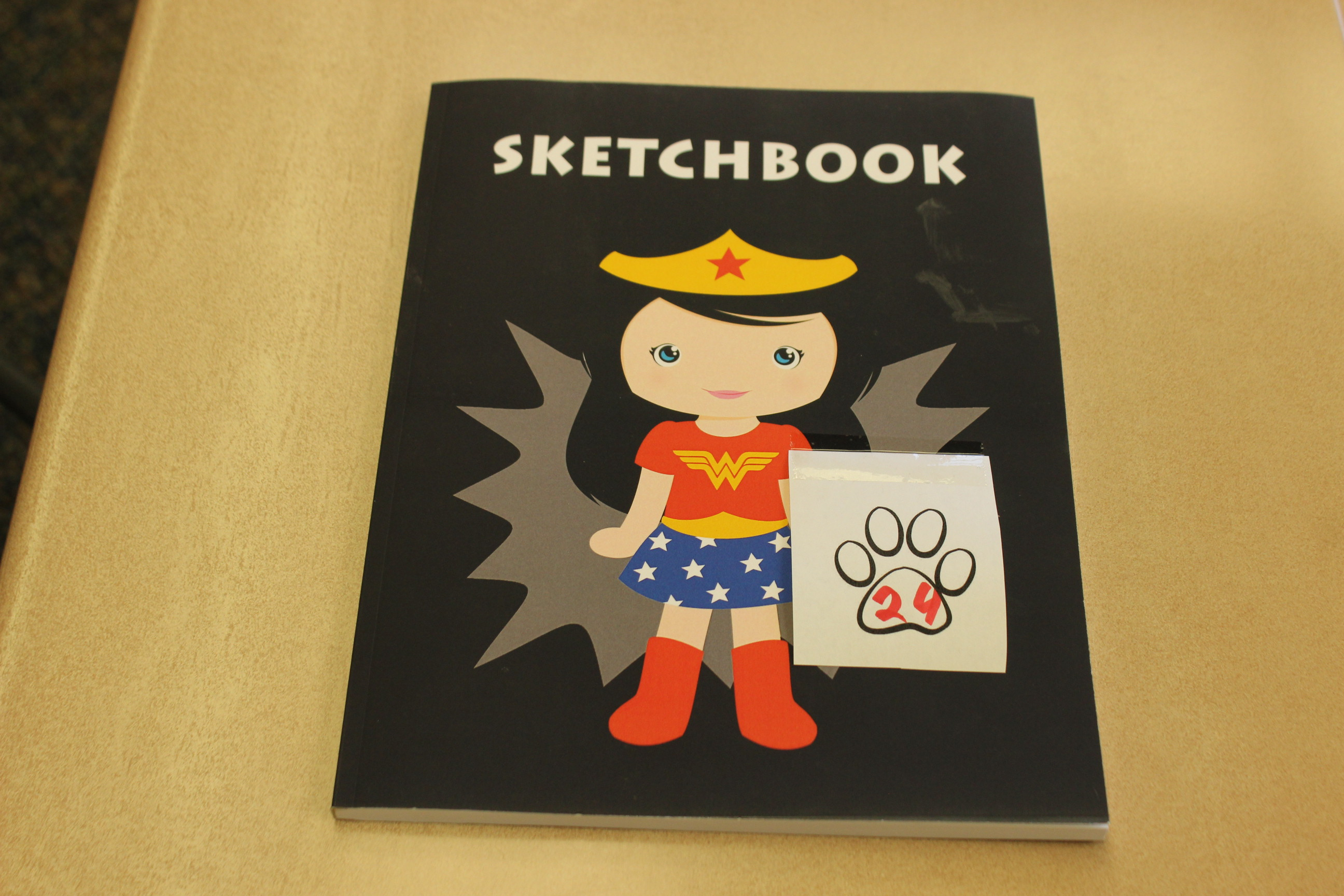 24 Paws Wonderwoman Sketchbook