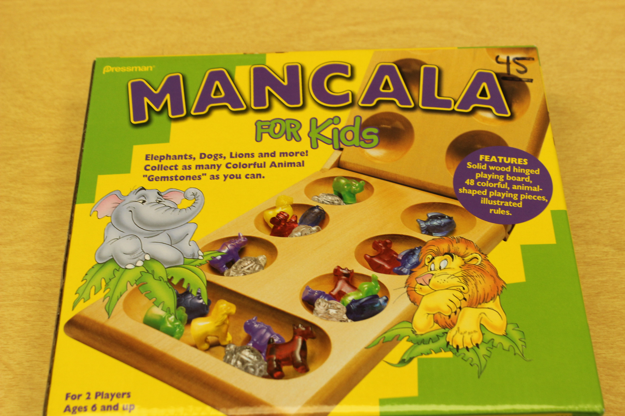 45 Animal Mancala Board Game