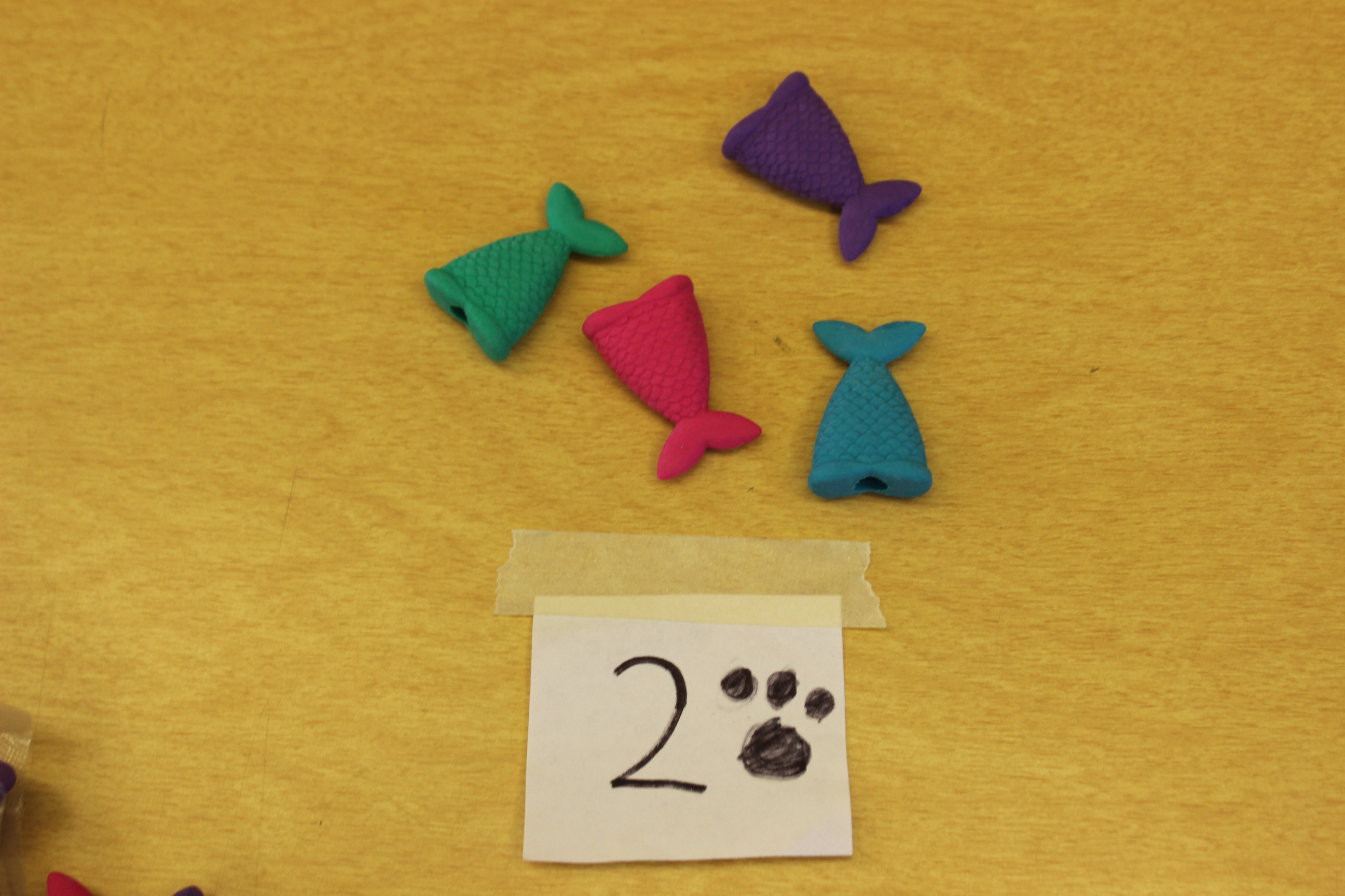 2 Paws Mermaid Tail Eraser