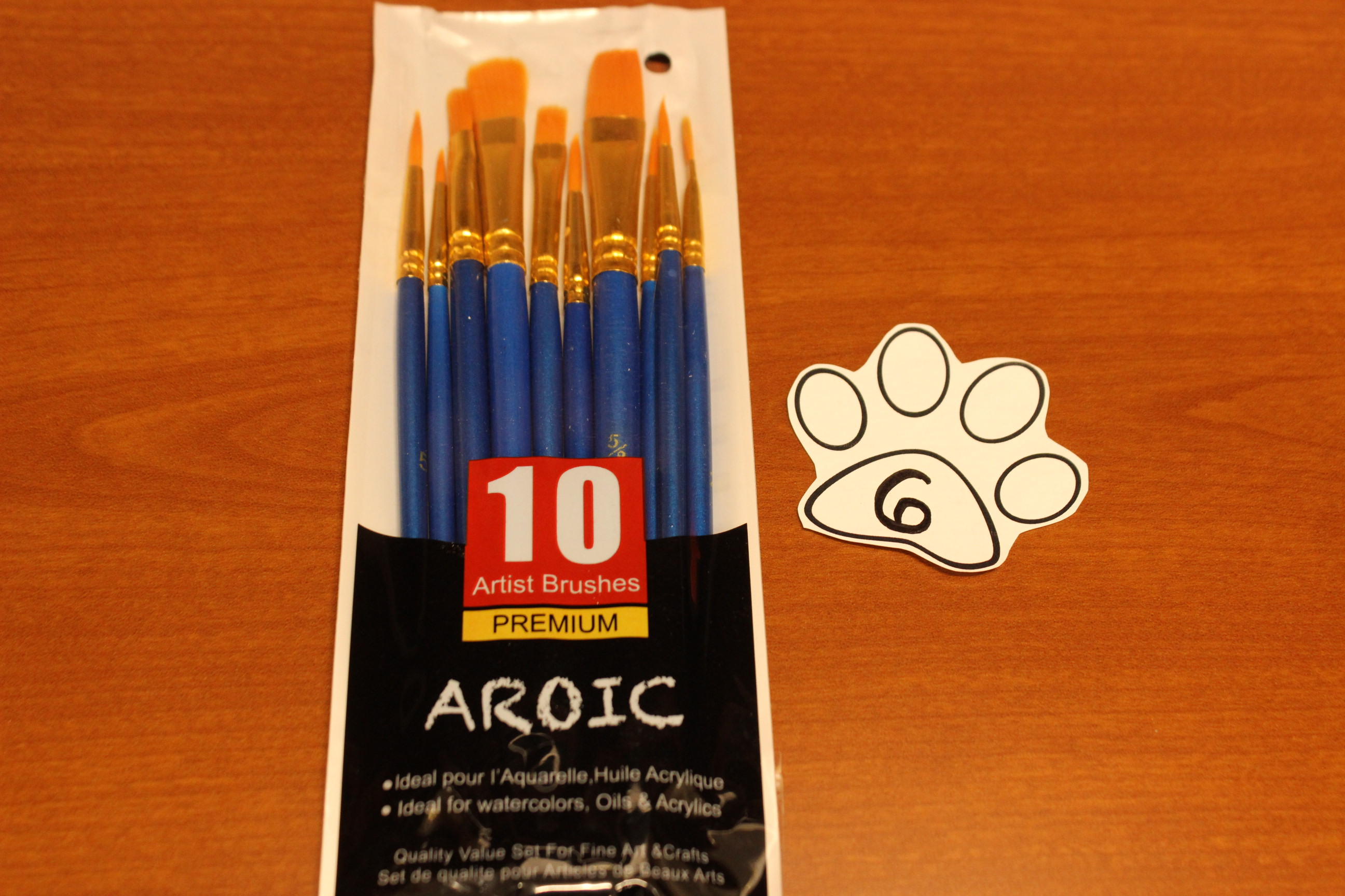 6 Paws Artist Brushes