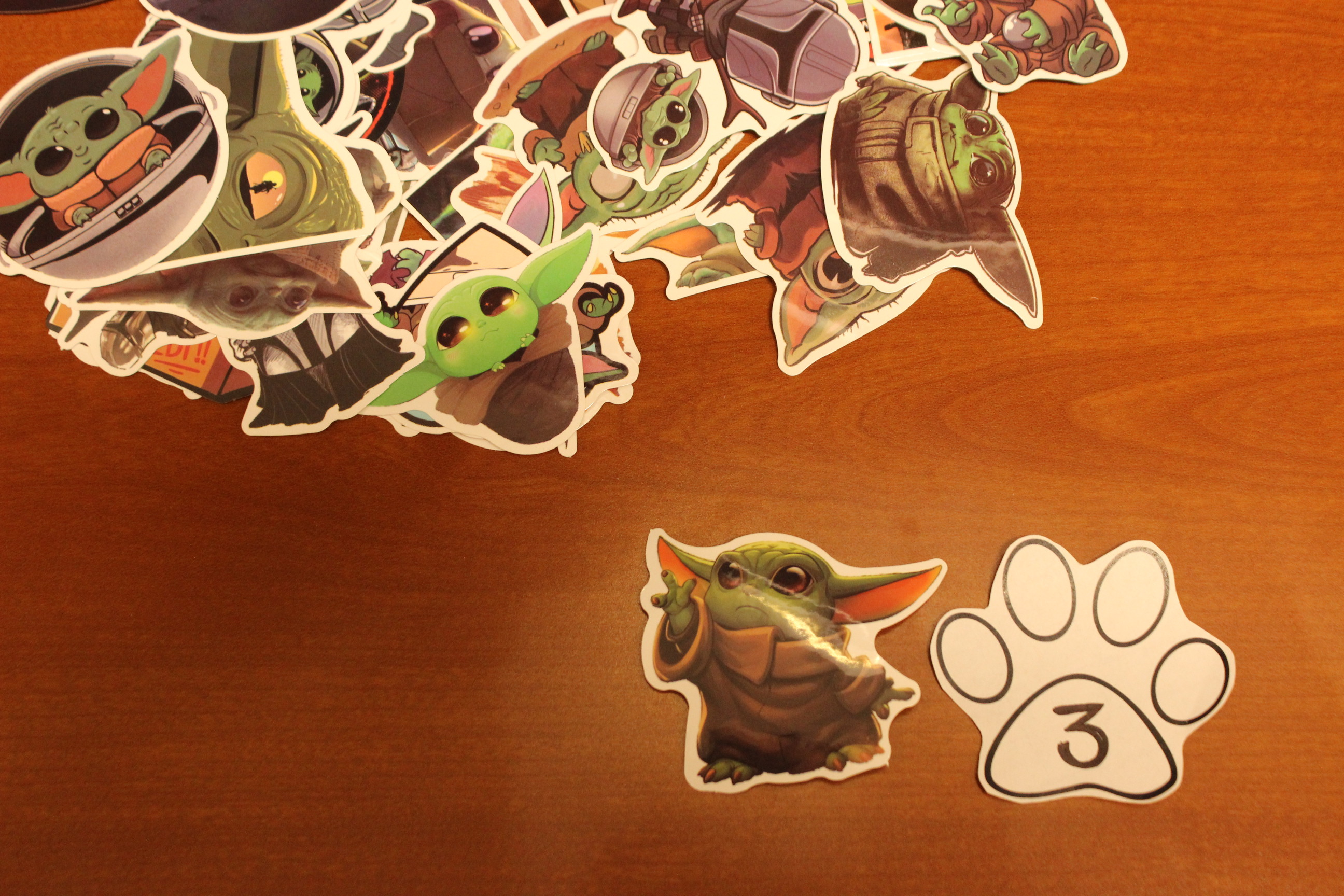 3 Paws Baby Yoda Sticker