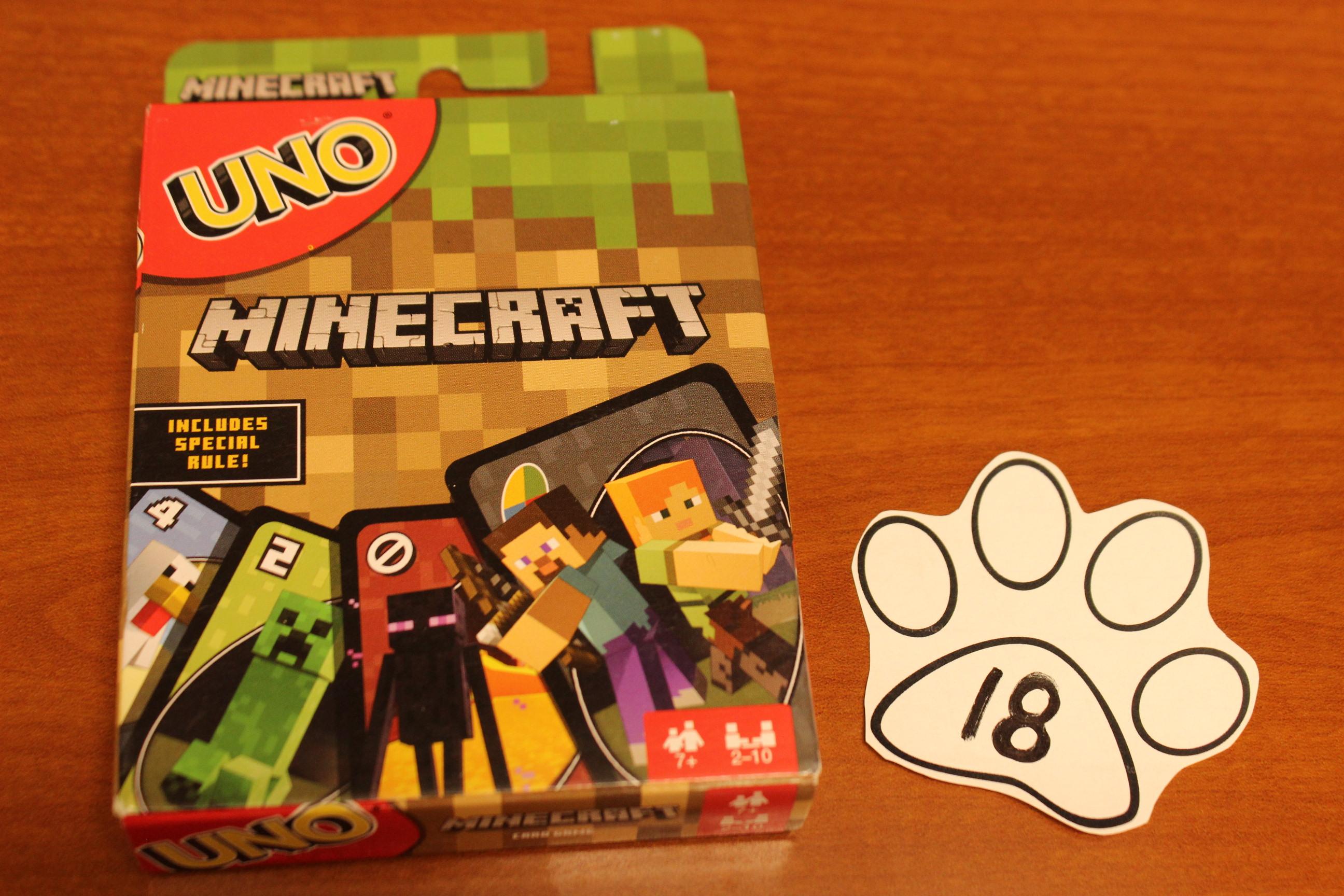 18 Paws Minecraft Uno