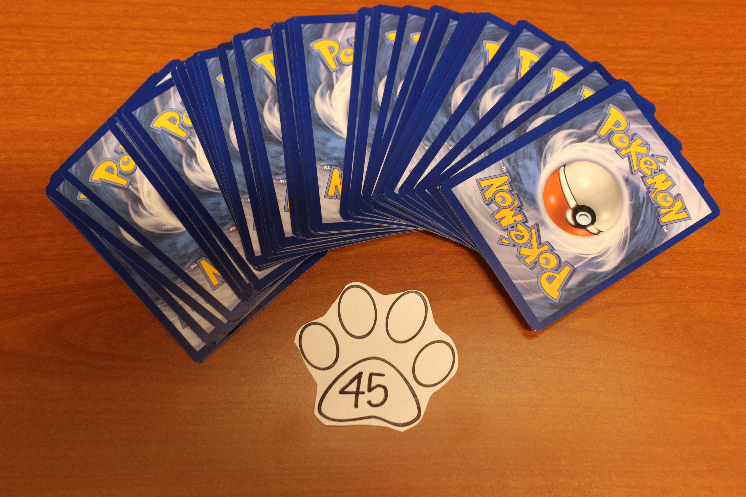 45 Paws Pokemon Cards