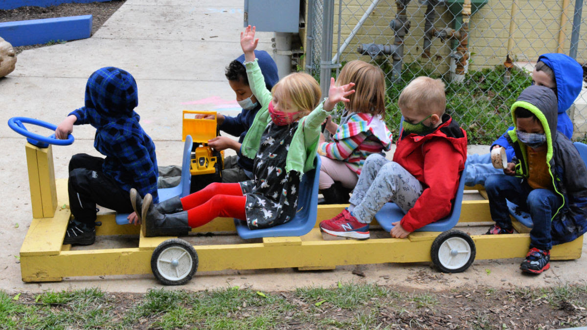 Jessie Thackrey students playing at recess