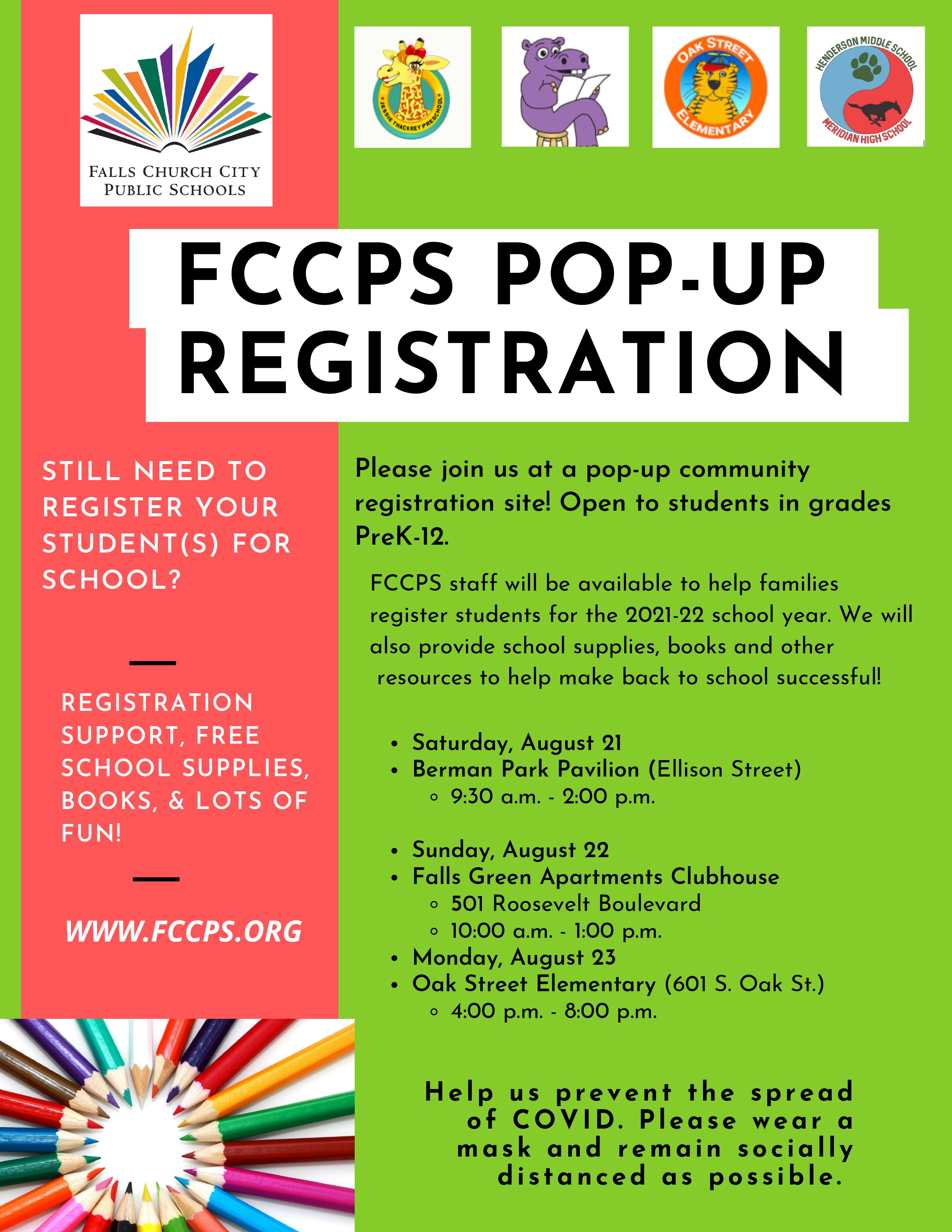 FCCPS Pop-Up Registration