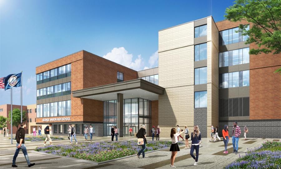 Render of the new school's building