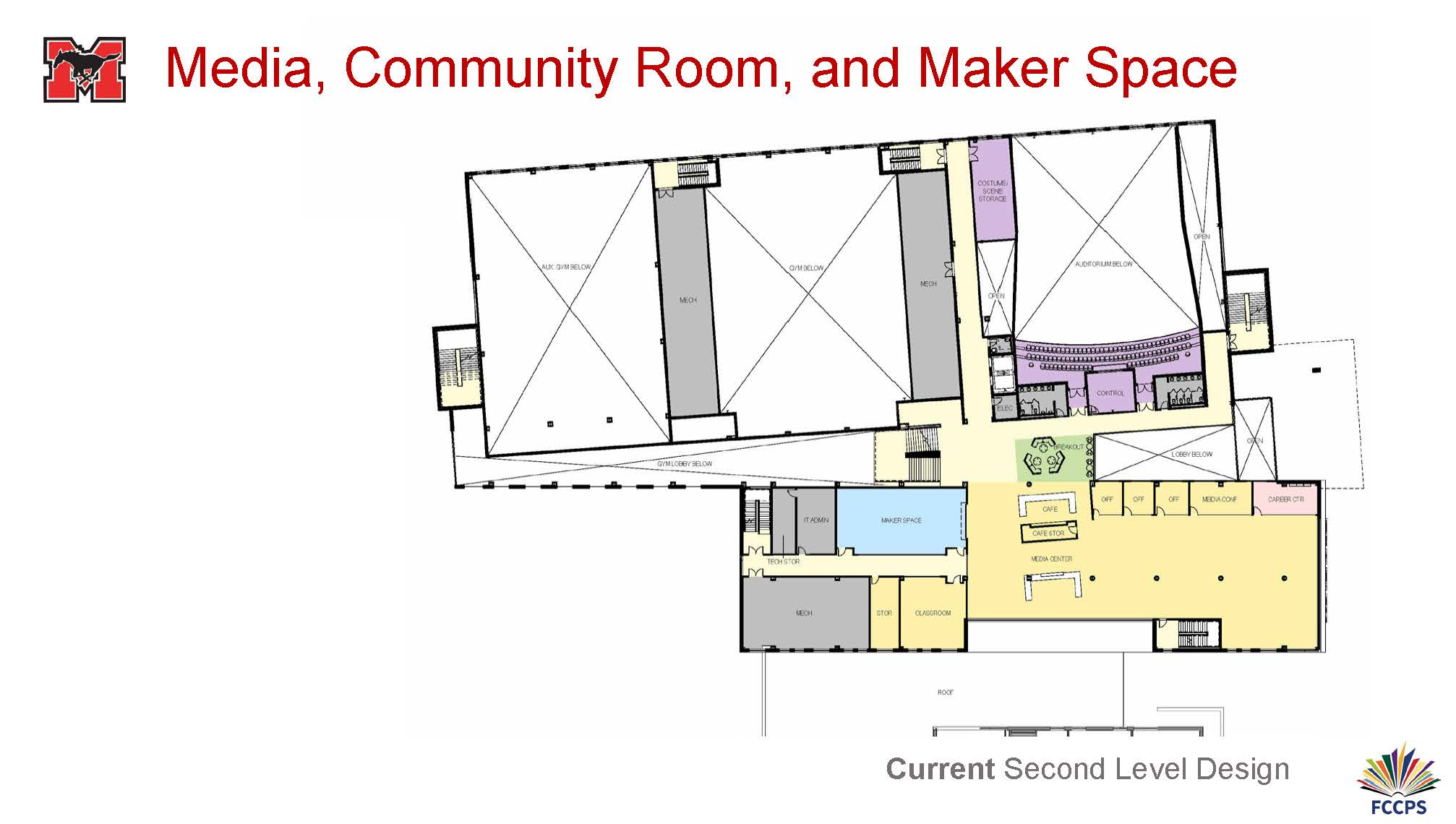 Media, Community Room, and Maker Space