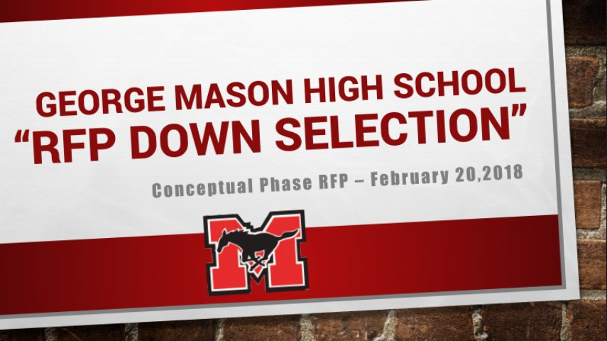 "George Mason High School ""FRP Down Selection"""
