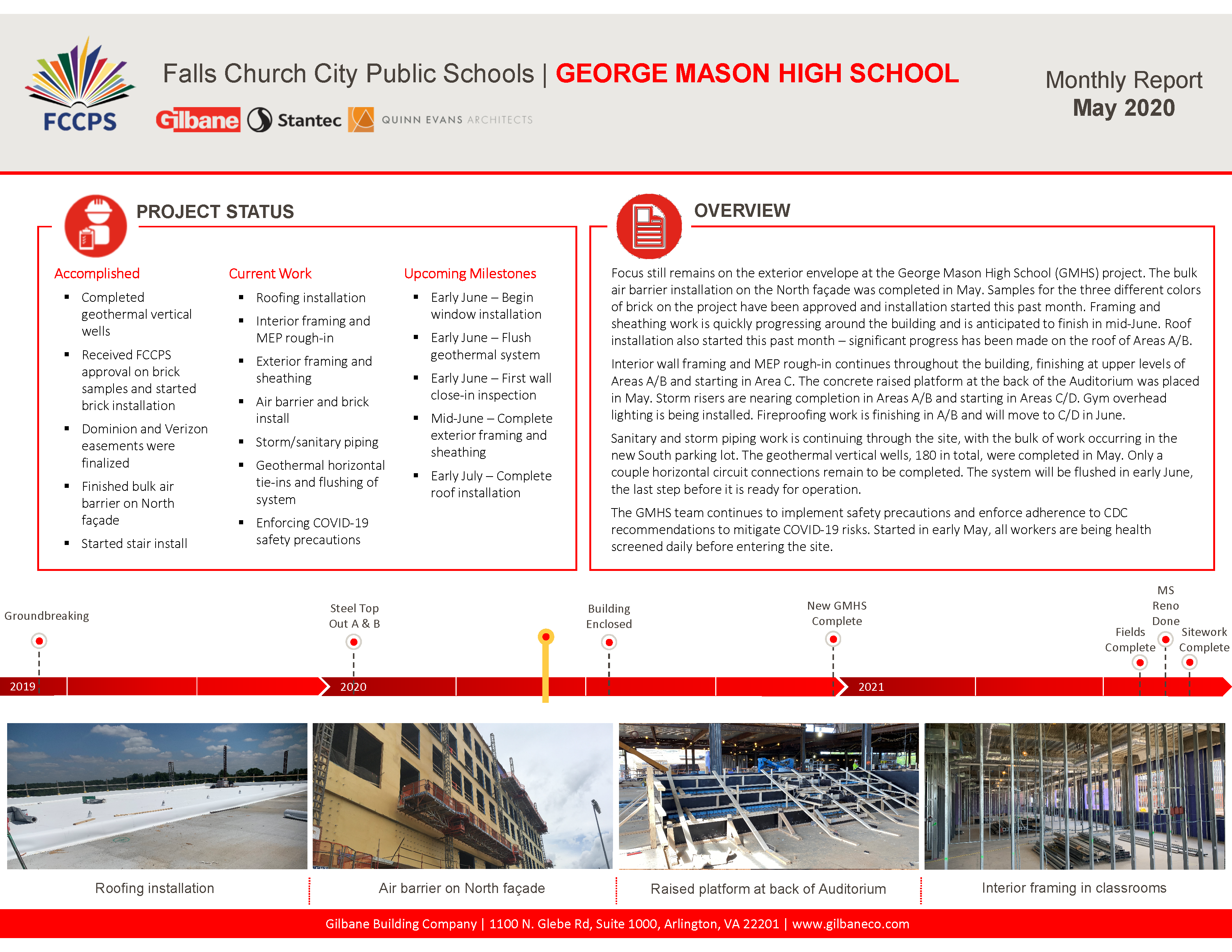 George Mason High School Monthly Report May 2020
