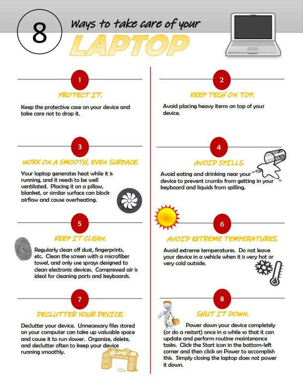 8 Ways to take care of your laptop.