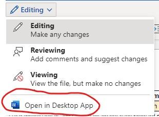 open in desktop app