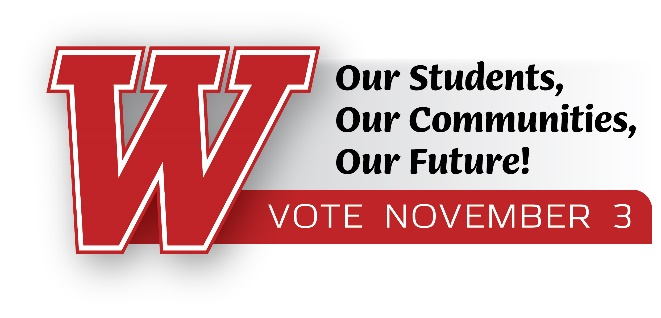 WASD Our Students, Our Communities, Our Future! Vote November 3rd referendum graphic