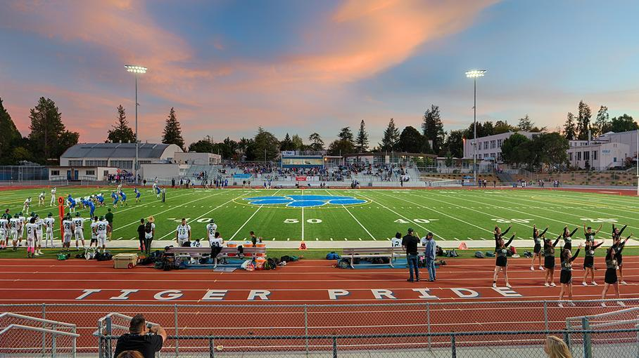 Photo of Analy High School Football Field During a Game