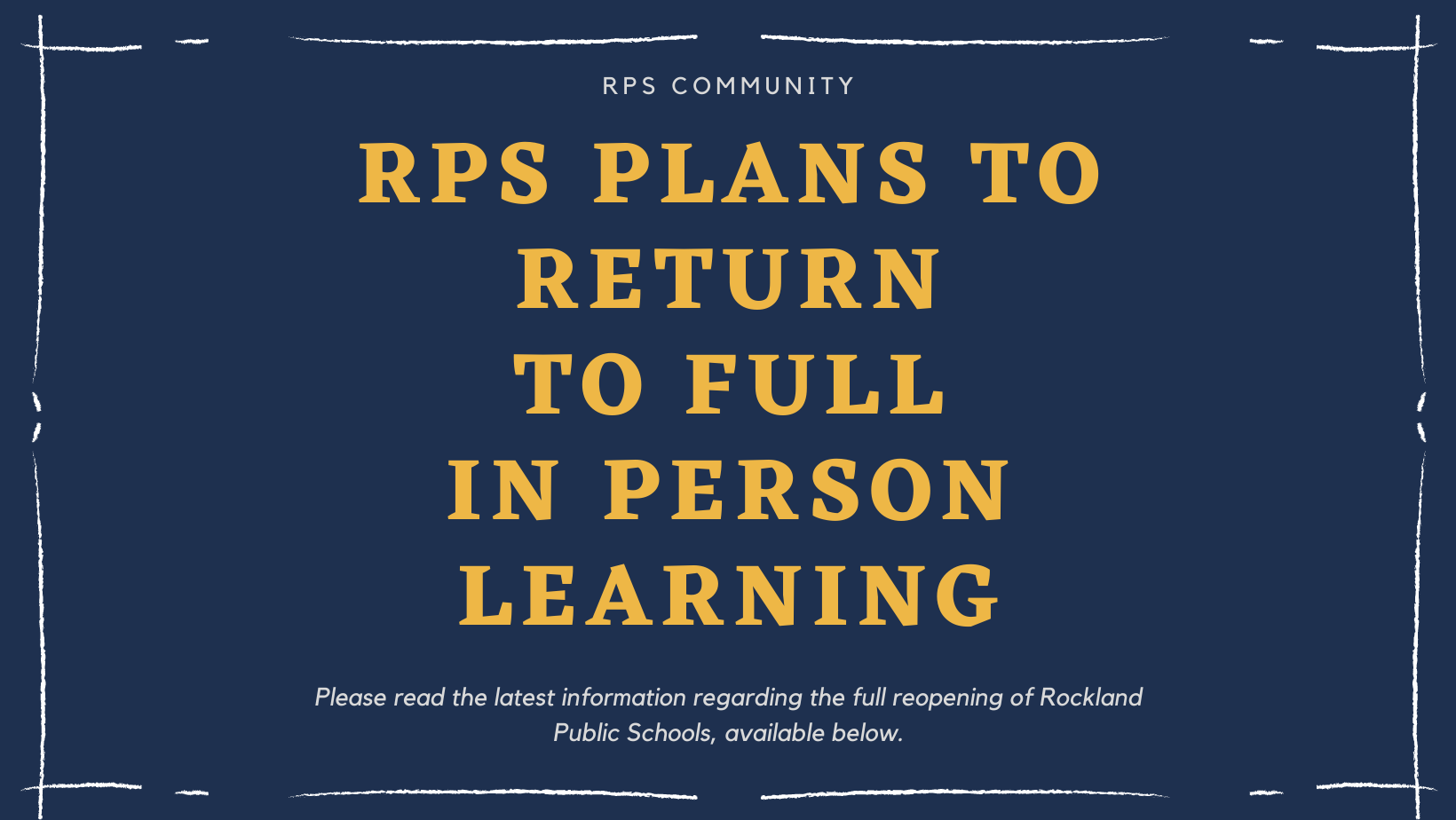 RPS Reopening Plans