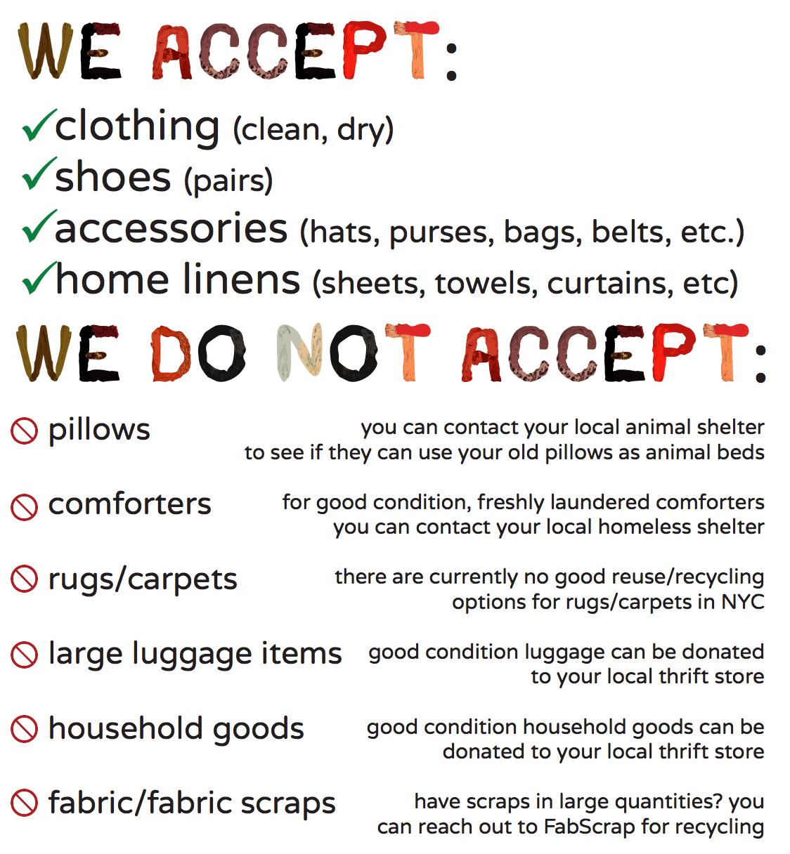 we accept - we do not accept