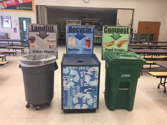 IMAGE OF THE RECYCLING BINS.