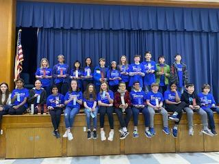 Photo of the Annual Science and Engineering Fair contestants.