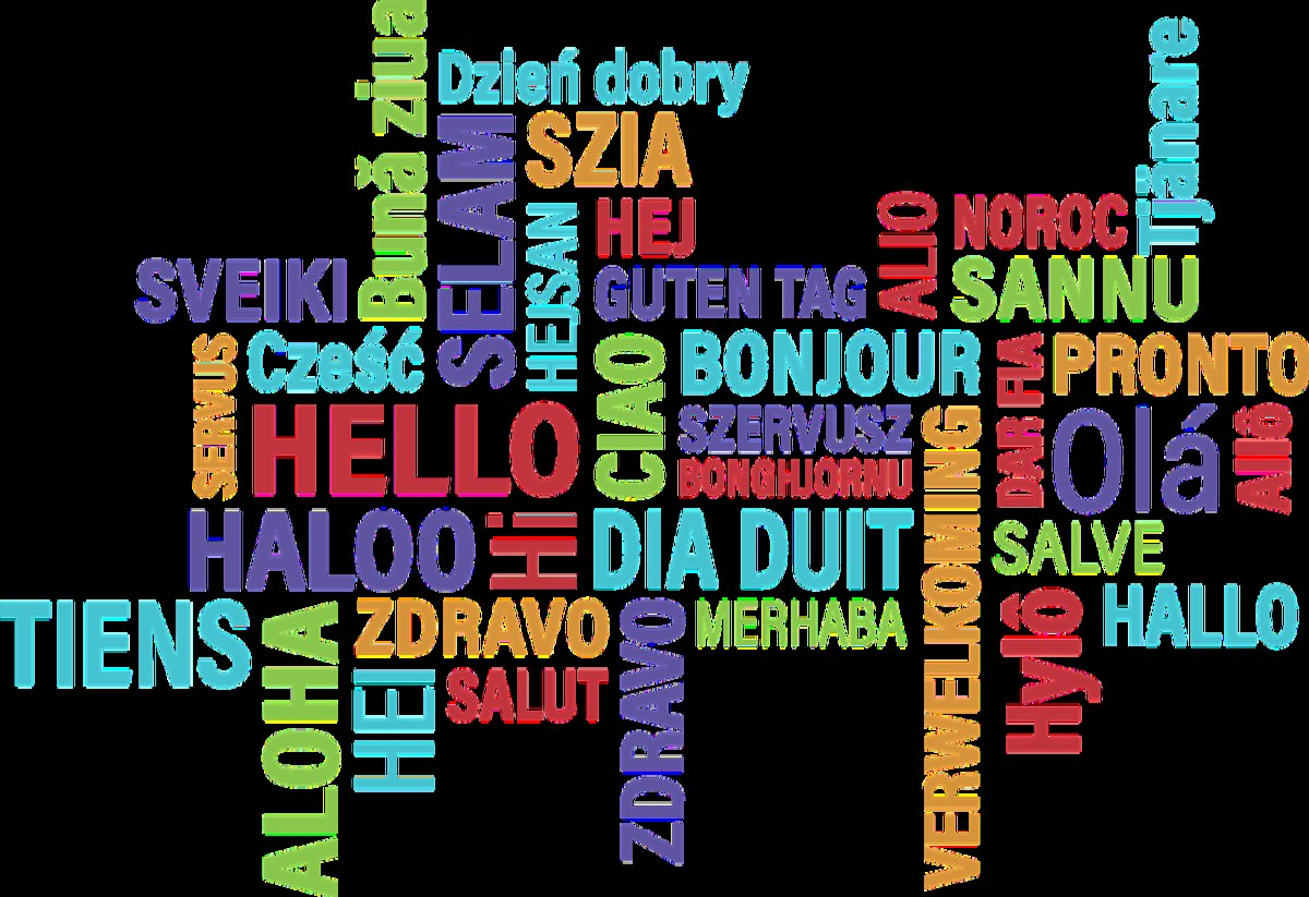Hello in many languages.