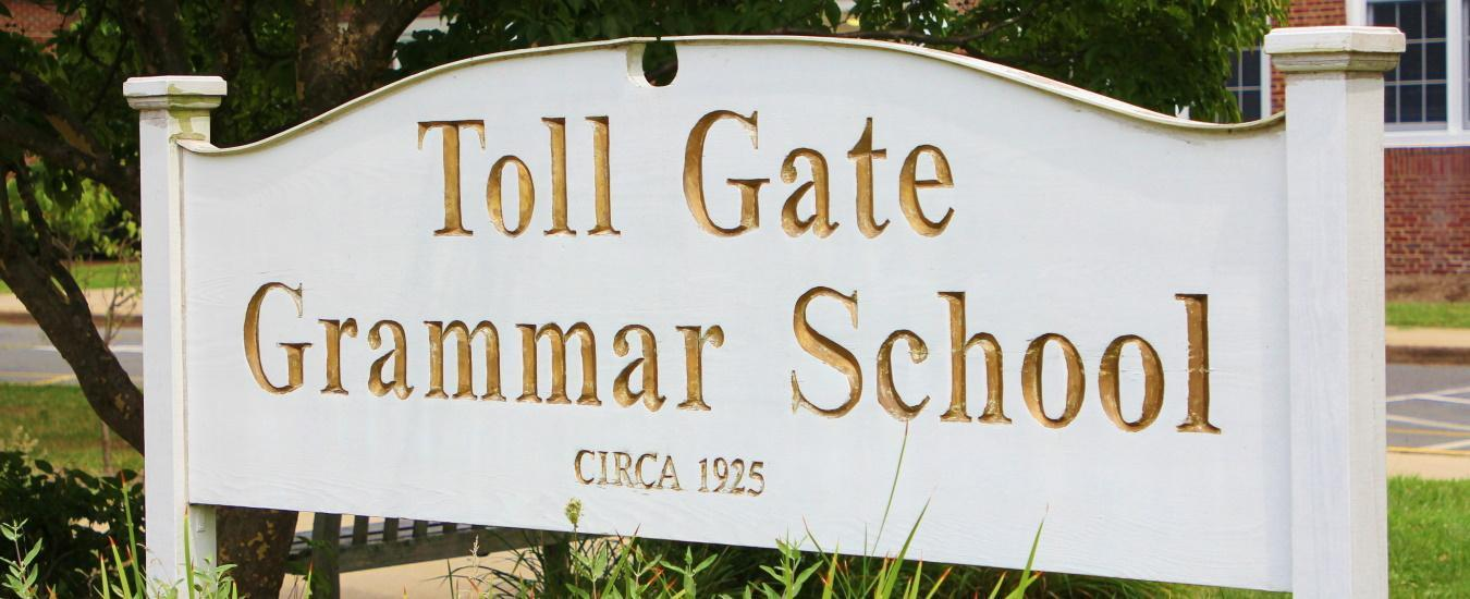 Toll Gate Grammar building sign