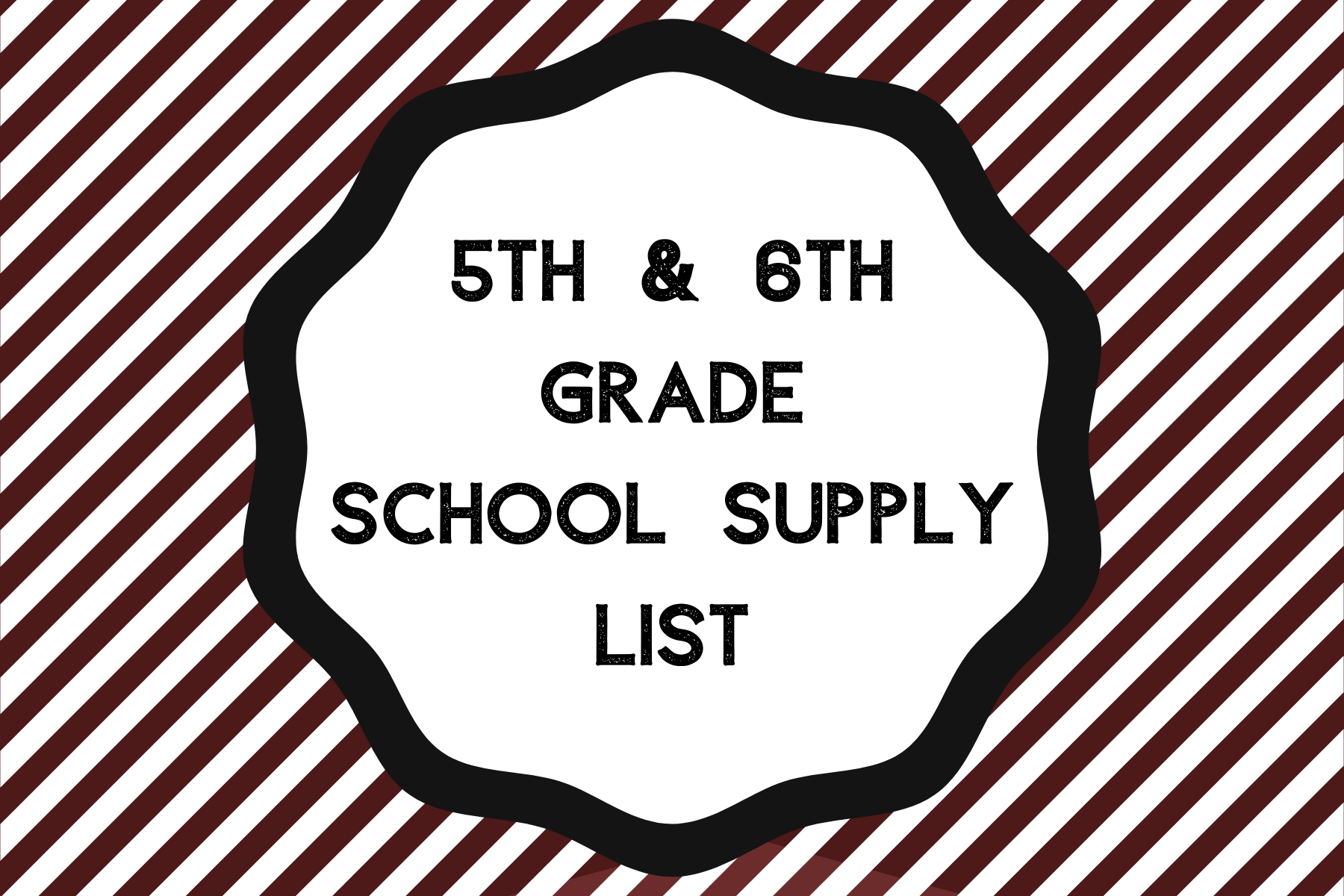 5th and 6th supply list