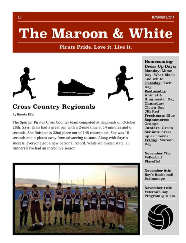 The Maroon and White