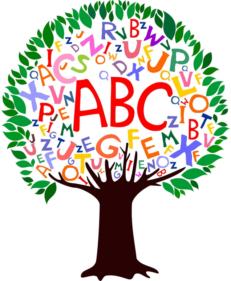 An image of a tree with letters inside.
