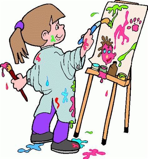 An image of a girl painting.