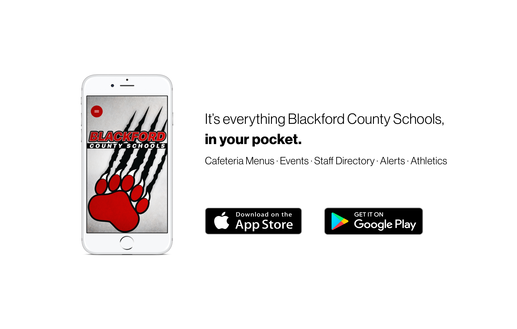 Introducing the brand new app for Blackford County Schools!