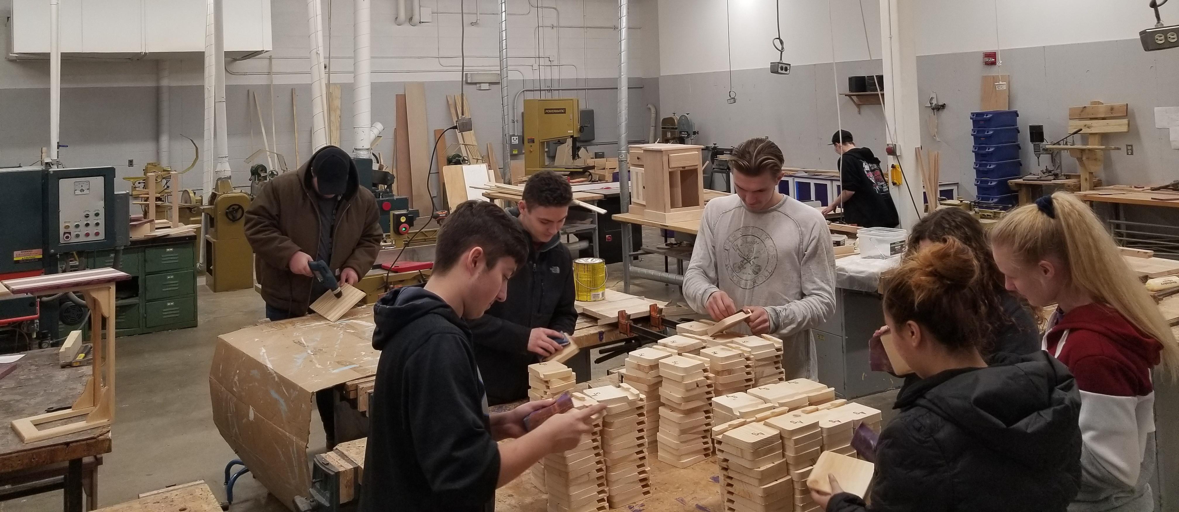 Alternative Ed Wood Shop Students