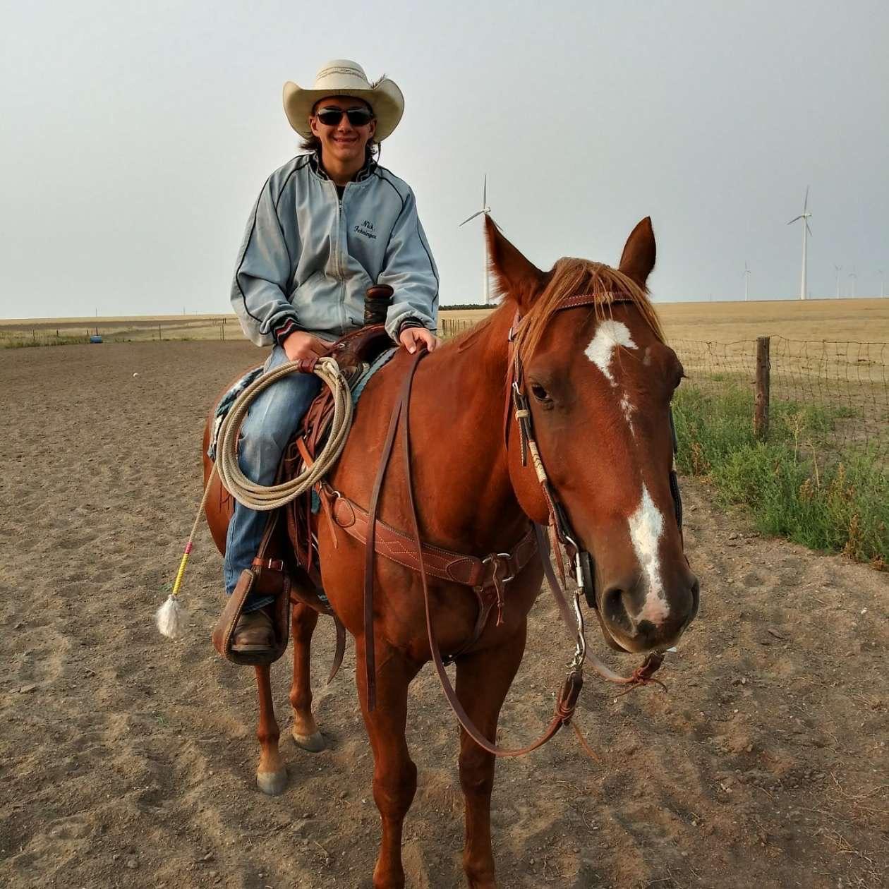 joe on his horse