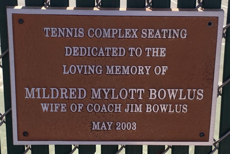 MILDRED MYLOTT BOWLUS TENNIS COMPLEX SEATING