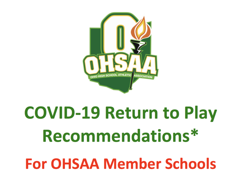 OHSAA RETURN TO PLAY RECOMMENDATIONS