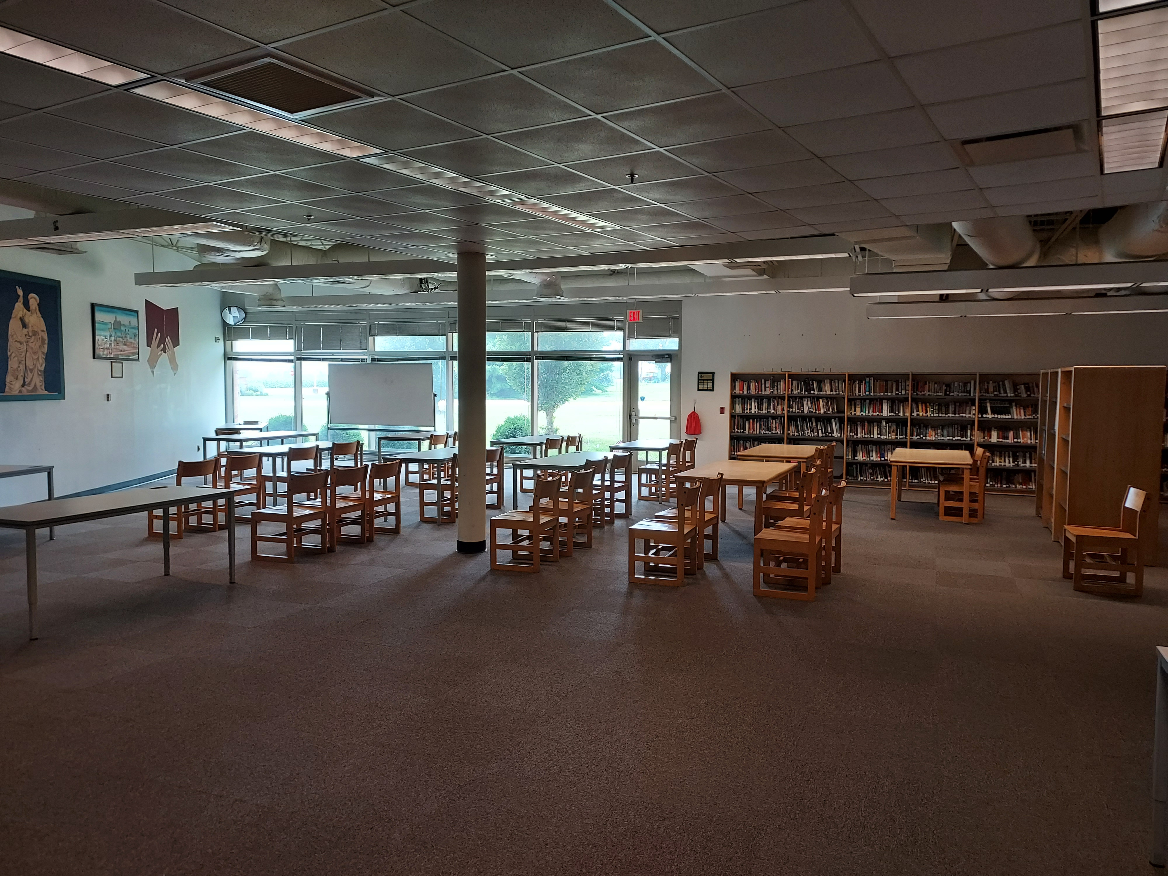Library with new flooring