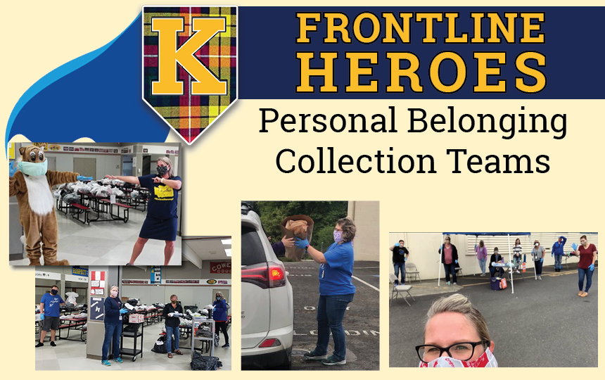 Photos of the Personal Belonging Collection Teams.