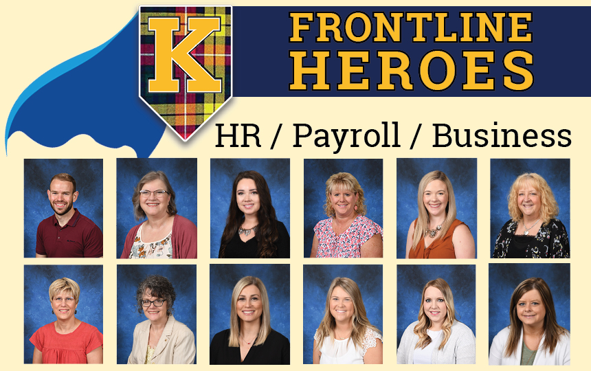 Photos of the HR/Payroll/Business teams.