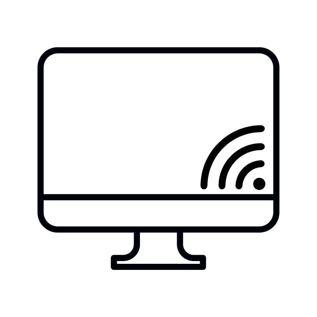 IMAGE OF A COMPUTER WITH WIFI SIGN.
