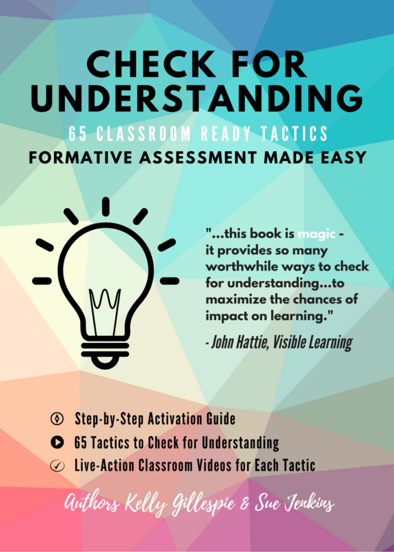 CHECK FOR UNDERSTANDING BOOK COVER