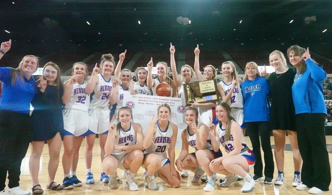 Lady Herders are holding the State Trophy