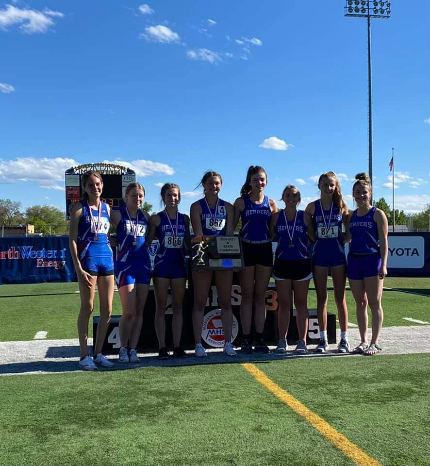 SGHS girls track state championship team