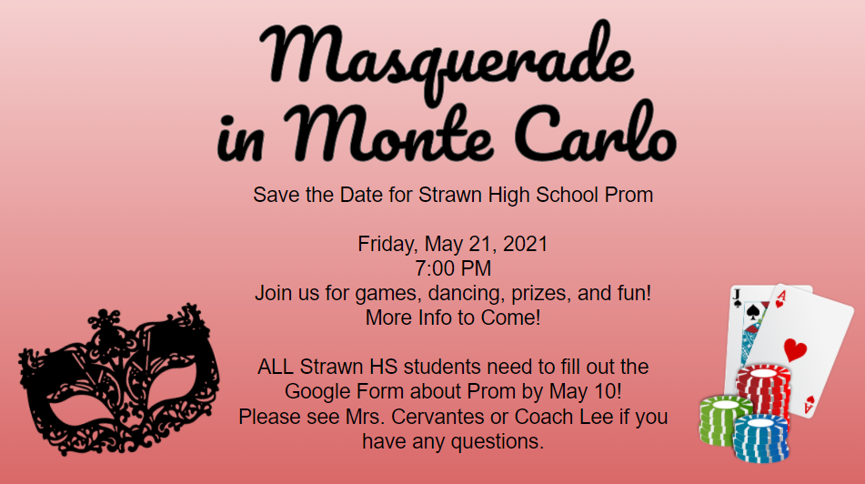 Prom, Friday May 21st