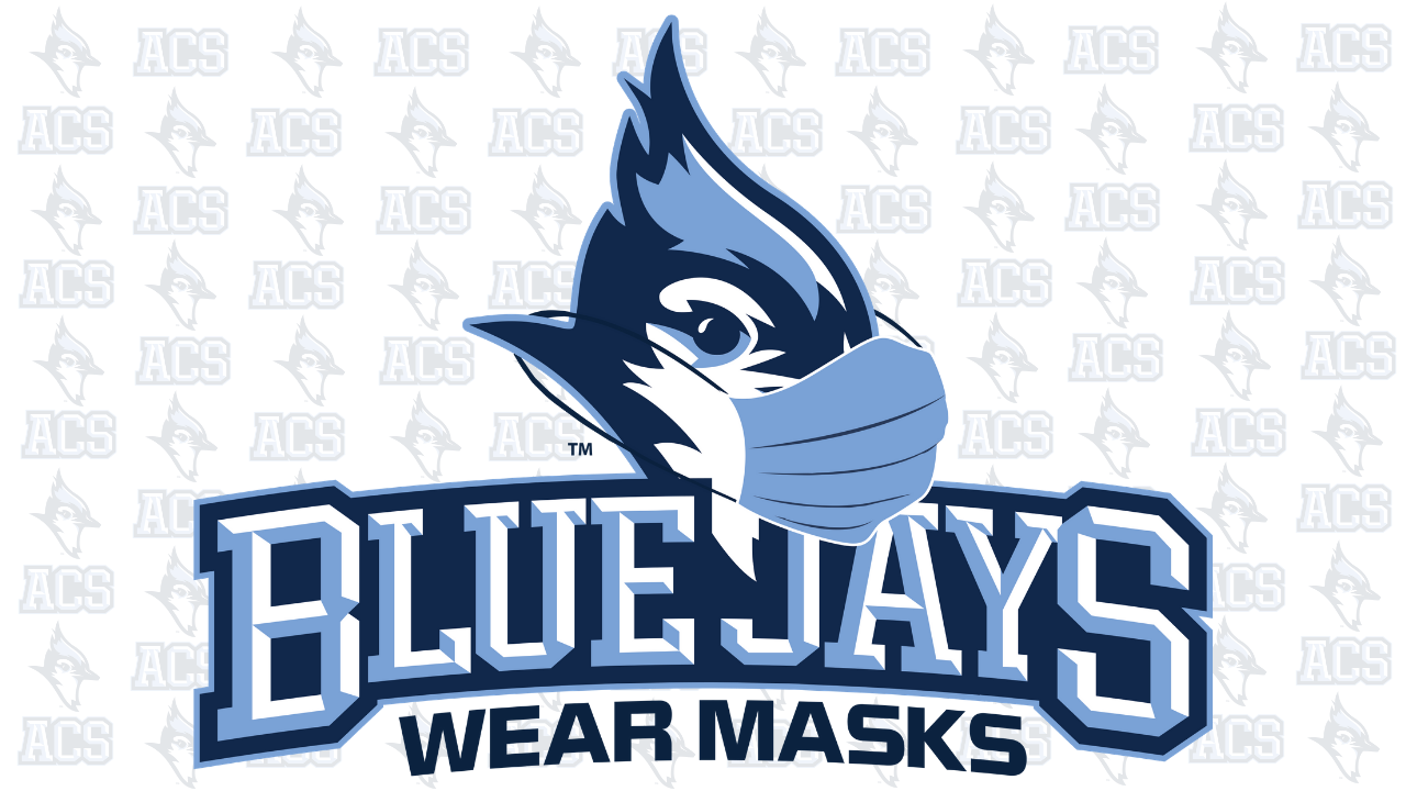 Bluejays wear masks