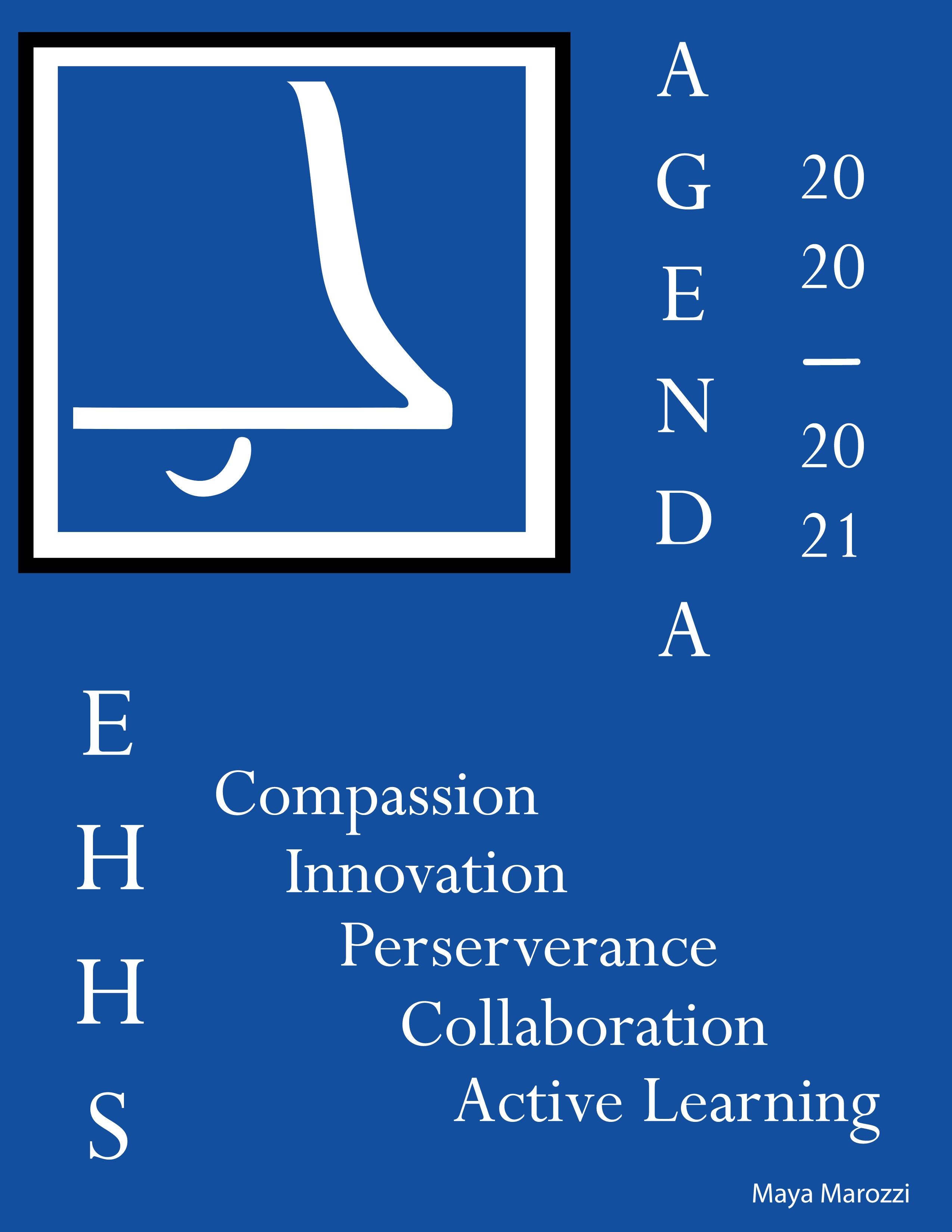 East Hampton High School Agenda Cover 2020-21