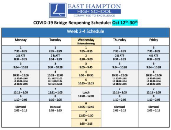 Bridge Leaning Schedule