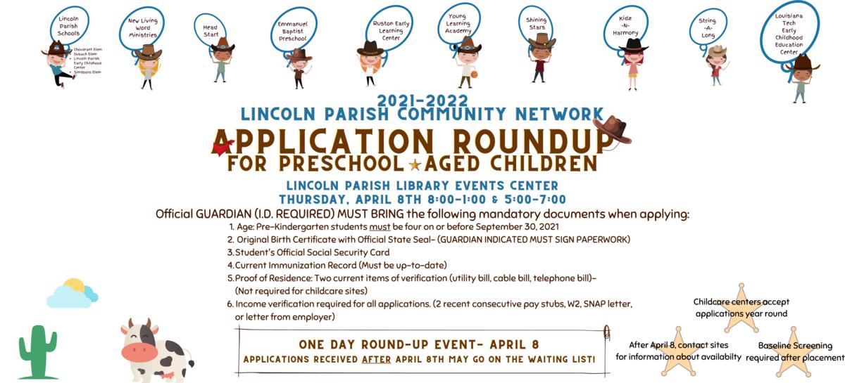 Application Roundup For Preschool Aged Children