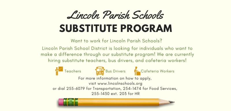 Lincoln Parish Schools Substitute Program