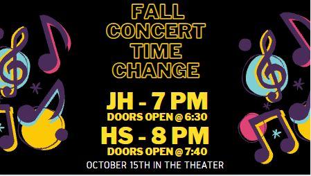 concert time change